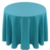 Spun Polyester Tablecloth Linen-Turquoise