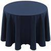 Spun Polyester Tablecloth Linen-Navy