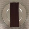 Dozen (12-pack) Spun Polyester Table Napkins-Brown