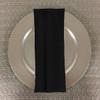 Dozen (12-pack) Spun Polyester Table Napkins-Black