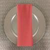 Dozen (12-pack) Spun Polyester Table Napkins-Coral