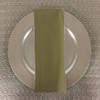 Dozen (12-pack) Spun Polyester Table Napkins-Light Olive