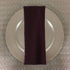 Dozen (12-pack) Spun Polyester Table Napkins-Eggplant