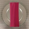 Dozen (12-pack) Spun Polyester Table Napkins-Hot Pink