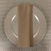 Dozen (12-pack) Spun Polyester Table Napkins-Khaki