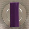 Dozen (12-pack) Spun Polyester Table Napkins-Grape