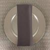 Dozen (12-pack) Spun Polyester Table Napkins-Thunder Gray