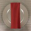 Dozen (12-pack) Spun Polyester Table Napkins-Rust