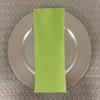 Dozen (12-pack) Spun Polyester Table Napkins-Lime