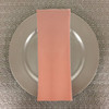 Dozen (12-pack) Spun Polyester Table Napkins-Peach