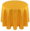 Solid Bengaline Textured Tablecloth Linen-Bright Gold