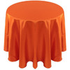 Solid Bengaline Textured Tablecloth Linen-Burnt Orange