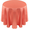 Solid Bengaline Textured Tablecloth Linen-Coral