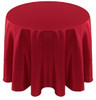 Solid Bengaline Textured Tablecloth Linen-Crimson