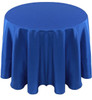 Solid Bengaline Textured Tablecloth Linen-Royal