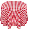 Checkered Print Spun Polyester Tablecloth Linen-Red