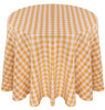 Checkered Print Spun Polyester Tablecloth Linen-Gold