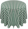 Checkered Print Spun Polyester Tablecloth Linen-Hunter