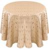 Eclectic Art Deco Jacquard Tablecloth Linen-Alabaster