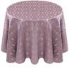 Eclectic Art Deco Jacquard Tablecloth Linen-Lavender