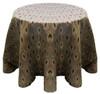 Eclectic Art Deco Jacquard Tablecloth Linen-Bronze Sangria