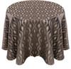 Eclectic Art Deco Jacquard Tablecloth Linen-Steel