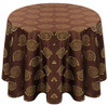 Kaleidoscope Art Deco Jacquard Tablecloth Linen-Brown