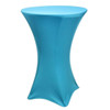 "Spandex Cocktail Table Linens for 30"" Round Top in 42""Height-Turquoise"