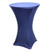 "Spandex Cocktail Table Linens for 30"" Round Top in 42""Height-Navy"