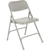 Body Builder Premium Steel Folding Chair By National Public Seating, 200 Series-Gray