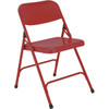 Body Builder Premium Steel Folding Chair By National Public Seating, 200 Series-Red