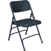 Body Builder Deluxe Steel Folding Chair By National Public Seating, 300 Series-Navy