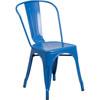 Indoor/Outdoor Metal Tolix Stacking Chairs-Blue