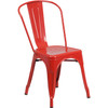 Indoor/Outdoor Metal Tolix Stacking Chairs-Red