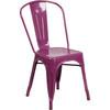 Indoor/Outdoor Metal Tolix Stacking Chairs-Purple