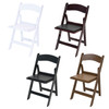 Classic Series Resin Folding Chair - 1000 lb. Capacity - Wedding Garden Style