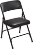 Body Builder Vinyl Padded Folding Chair By National Public Seating, 1200 Series -Black