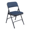 Body Builder Vinyl Padded Folding Chair By National Public Seating, 1200 Series -Blue