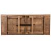 "40"" Wide Hercules Antique Rustic Solid Pine Folding Farm Tables-8 Foot Long"