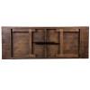 "40"" Wide Hercules Antique Rustic Solid Pine Folding Farm Tables-9 Foot Long"