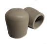 """100 pk. Gray USA Made Non-Marring Plastic Foot Cap Glides for Rental Style Plastic Folding Chairs, Fits 3/4"""" OD Tube"""