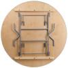 "European Birch 66"" (5.5FT) Round Wood Banquet Folding Table With Vinyl Edge"
