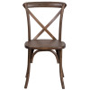 HERCULES Series Wood Cross Back Chair - 400lb Capacity, Optional Tie Back Cushion