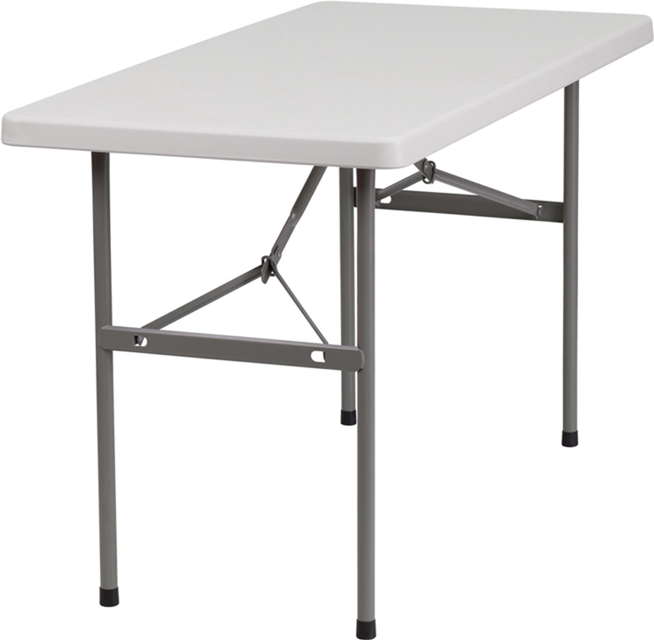 Rhinolite 24 X48 4 Ft Plastic Folding Table Solid One Piece Top Locking Steel Frame Foldingchairsandtables Com