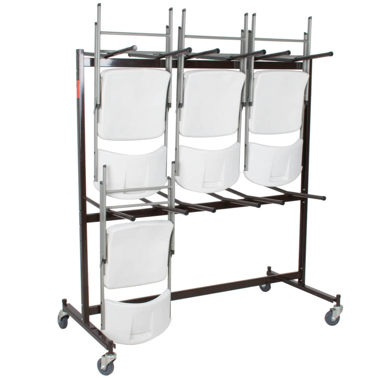 84 Capacity Hanging Folding Chair Storage Cart By National Public Seating