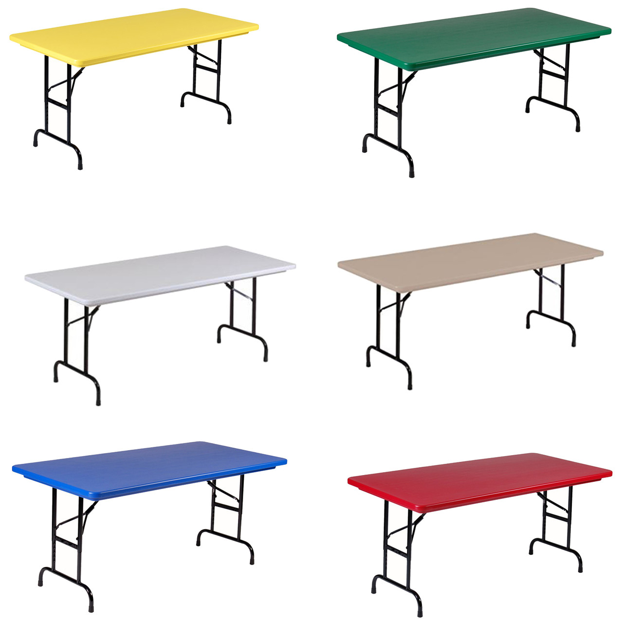 R Series By Correll 30 X72 6ft Usa Made Plastic Folding Table Model R3072 Foldingchairsandtables Com