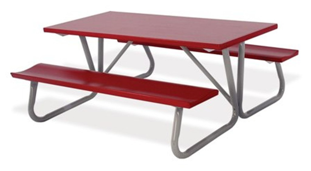 Enjoyable Southern Piknik 30 X 72 Deluxe Aluminum Picnic Table 64 Width Bench To Bench Uwap Interior Chair Design Uwaporg