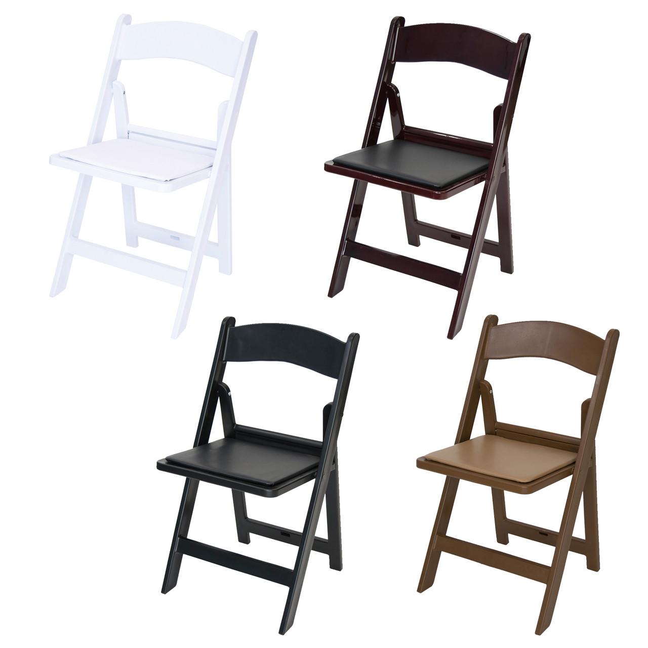 Classic Series Resin Folding Chair 1000 Lb Capacity Wedding Garden Style