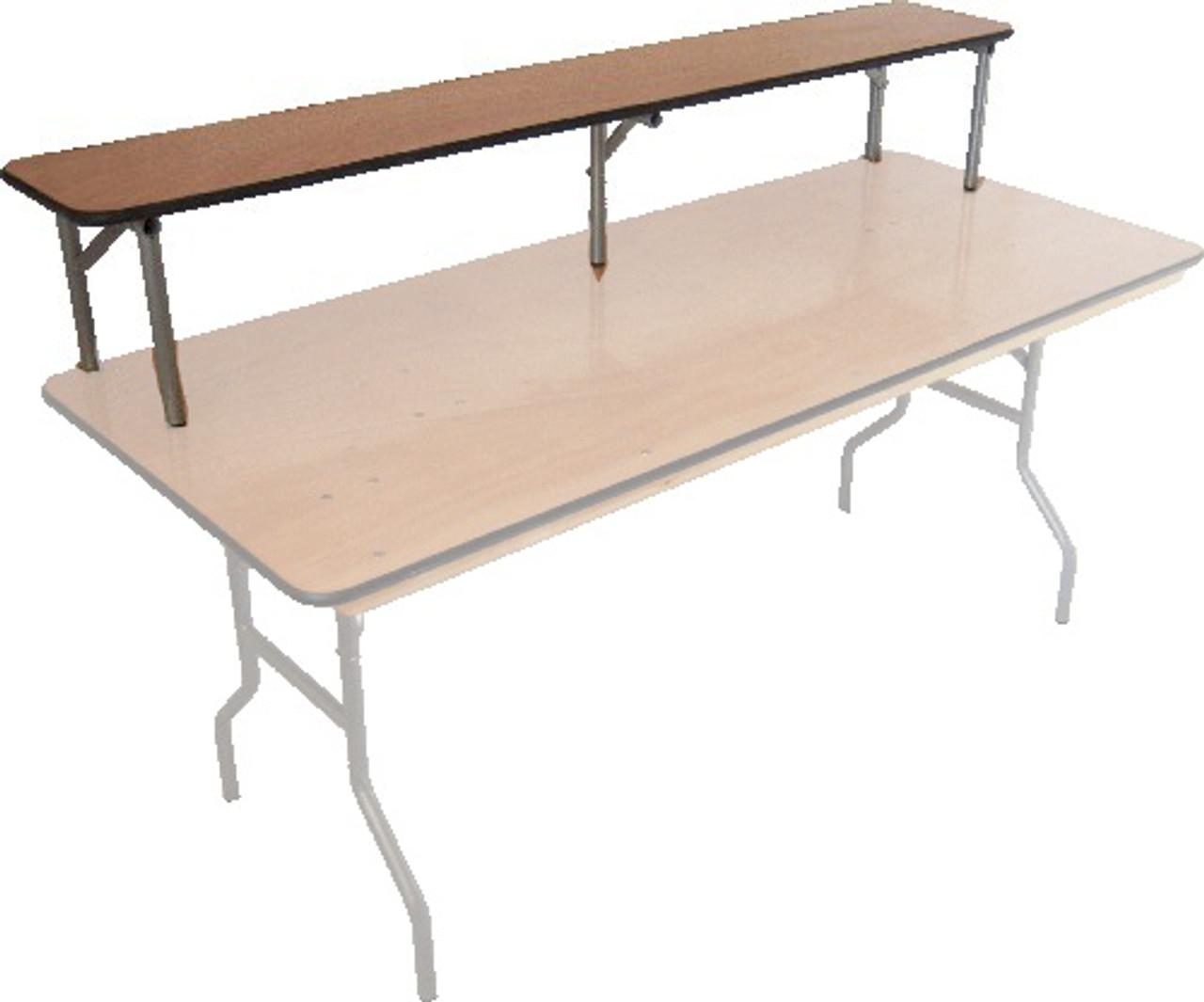 Excellent Luan 12W X 72L 6Ft Straight Portable Bar Top Riser Machost Co Dining Chair Design Ideas Machostcouk