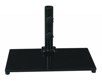 Galtech 40 lb. Premium Cast Iron Square Stand For Half Wall Umbrellas, Model 040SQ (GA040SQ)